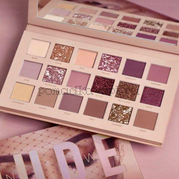 Тени для века Huda Beauty New Nude Palette | Review & Look