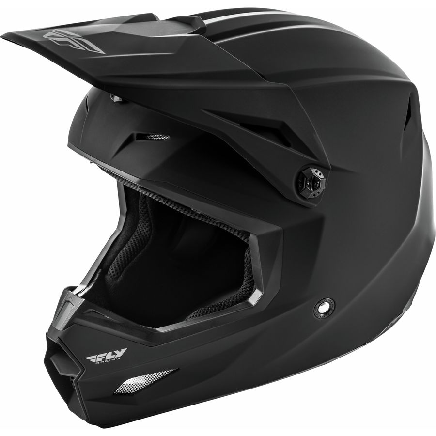 Fly Racing 2021 Kinetic Solid Matte Black шлем внедорожный