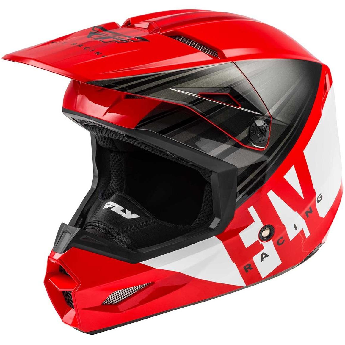 Fly Racing - 2020 Kinetic K220 шлем, красно-черно-белый