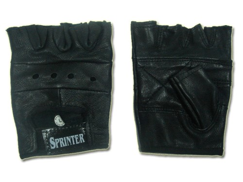 Перчатки кожаные для тяжёлой атлетики. Размер XL. 16089