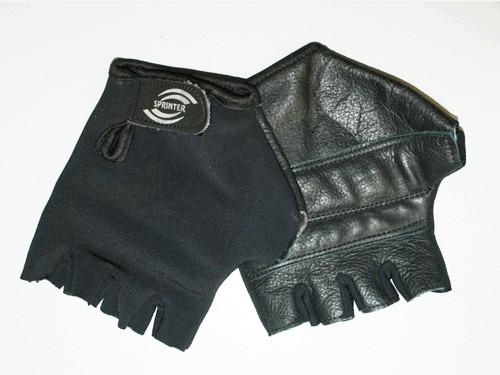 Перчатки велосипедные без пальцев, материал кожа, лайкра. Размер L..16911