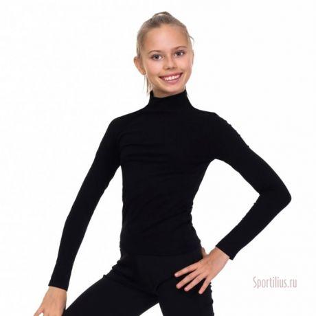 черная водолазка для гимнастики solo