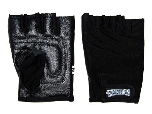 Перчатки велосипедные без пальцев, материал кожа, лайкра. Размер XL..16318