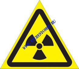 Опасно. Радиоактивные вещества или ионизирующее излучение