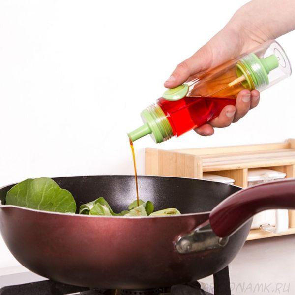 Двусторонняя бутылочка-распылитель для соуса и масла 2 WAY Soy sauce Bottle, Цвет: Зеленый