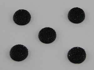 `Кабошон круглый, акрил, блестящий, 20 мм, цвет №02 черный