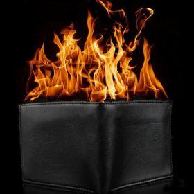 Огненный кошелёк (бумажник) Magic Fire Wallet