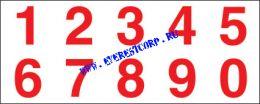 Комплект цифр для знака