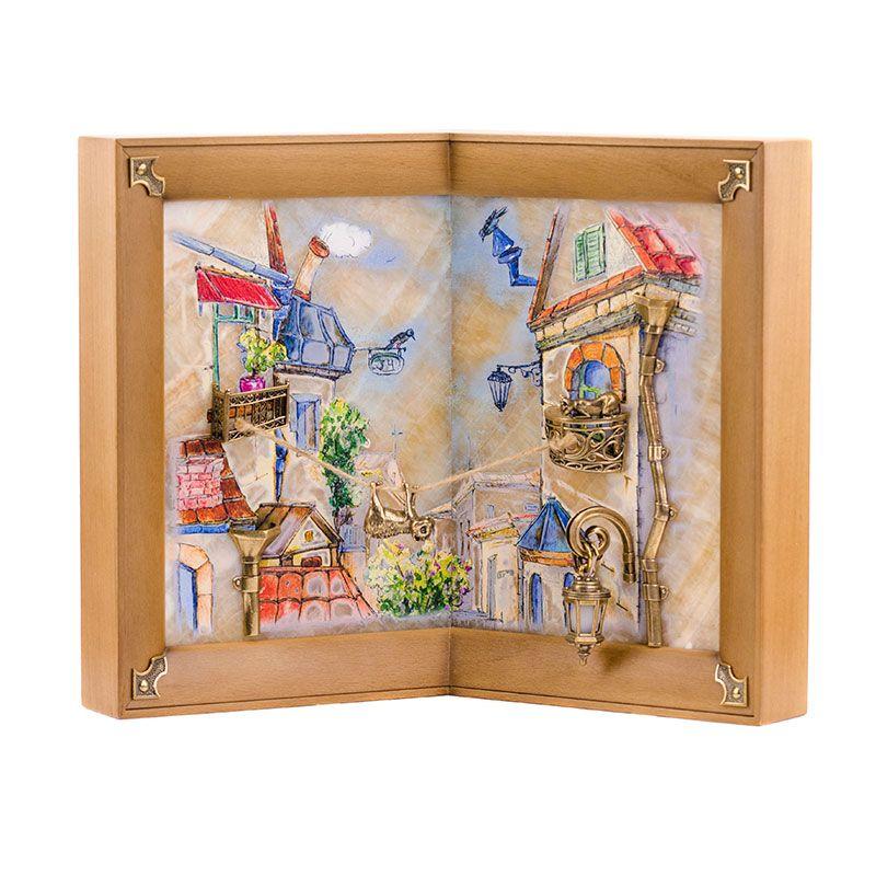 """Картина угловая """"Мартовский кот"""" рисованная на ониксе с подсветкой"""