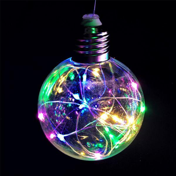 Ретро-лампа со светодиодной нитью, 8 см 1 шт, Цвет света: Разноцветный