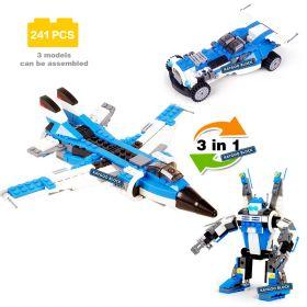 Конструктор 3 в 1 Самолет Машина Робот Lego реплика 241 деталь