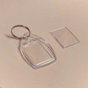 Брелок акриловый для ключей, капля 35*58мм ( 1уп = 10 шт)