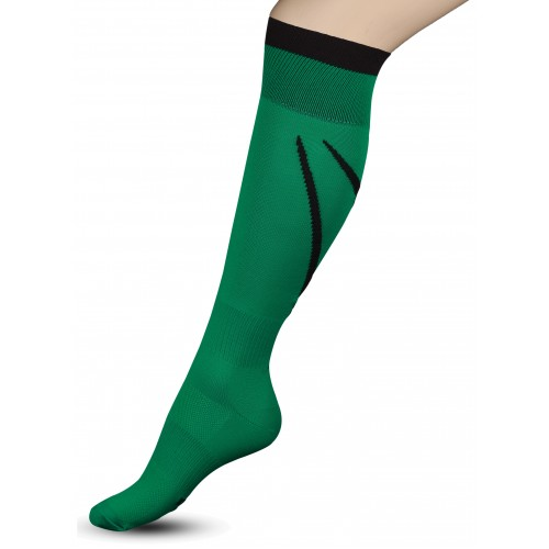 Гетры футбольные с рисунком Sport 3-1 INDIGO зеленые