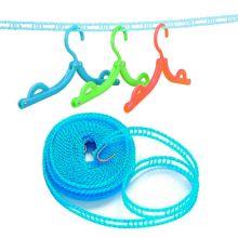Веревка для сушки белья на плечиках, 5 м, Цвет: Синий