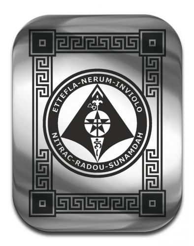 """Магическая карта """"Пентакль для защиты имущества"""", 4,5 х 3,5 см, сталь с покрытием"""
