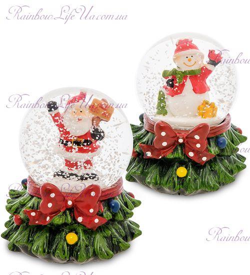 """Шар - елка со снегом """"Санта и снеговик"""""""
