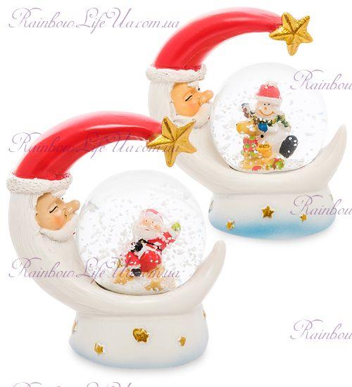 """Шар - месяц со снегом """"Санта и снеговик"""""""