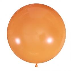 Оранжевый полуметровый латексный шар с гелием