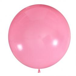 Розовый полуметровый латексный шар с гелием