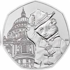 Медвежонок Паддингтон  (Собор Святого Павла) 50 пенсов Великобритания 2019