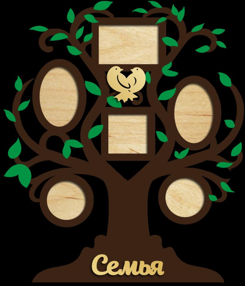 Семейное дерево с фоторамками 8