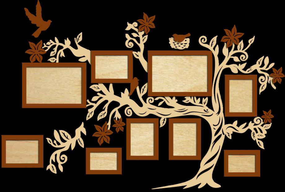 Семейное дерево с фоторамками 15
