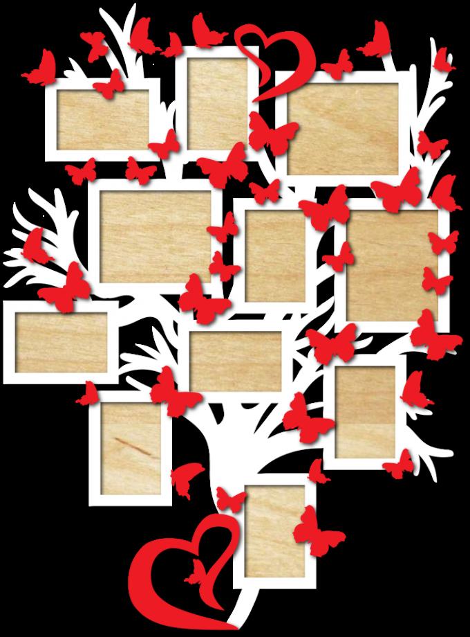 Семейное дерево с фоторамками 93