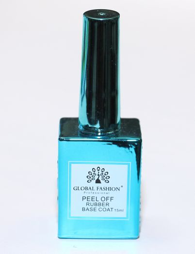 База для гель лака Global Fashion, Rubber Base Coat PEEL OFF 15 мл