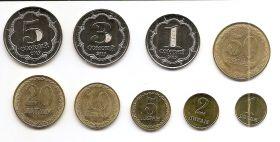 Набор монет Таджикистан 2019 (9 монет) Новинка!