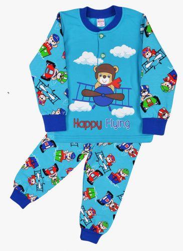 Пижама с начесом, для мальчиков 2-6 лет BN922 бирюзовый