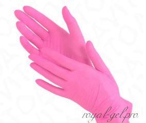 Перчатки нитриловые розовые 1 шт.