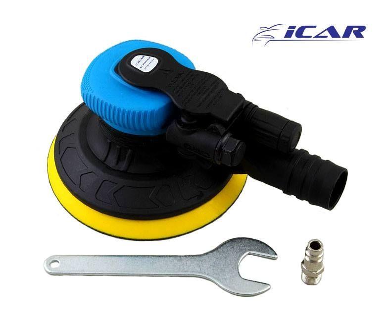 ICAR GT POWER Машинка шлифовальная пневматическая, орбита 2,5мм., подложка 125мм., 8 отверстий
