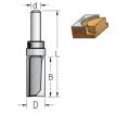 Фреза обгонная верхний подшипник D 16 B 25 Z 2 хвостовик 8 WPW HPF4165