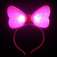 """Светящийся ободок """"Бант"""", цвет розовый (1)"""