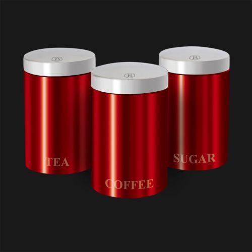 Набор контейнеров для хранения 3 пр. Berlinger Haus ВН-1343 Metallic red Passion Collection