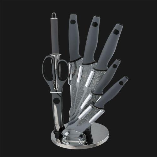 Набор ножей на подставке 8 пр. Berlinger Haus BH-2116 Granit Diamond Line