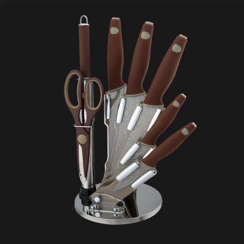 Набор ножей на подставке 8 пр. Berlinger Haus BH-2118 Granit Diamond Line