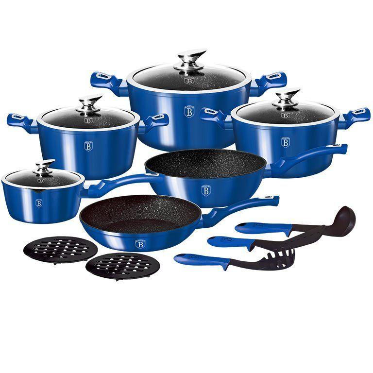 Набор посуды 15 пр. BerlingerHaus ВН-1659N Royal Blue Metallic Line