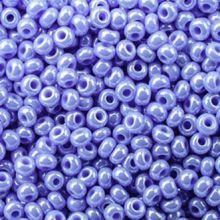 Бисер чешский 38020 сине-сиреневый непрозрачный жемчужный Preciosa 1 сорт