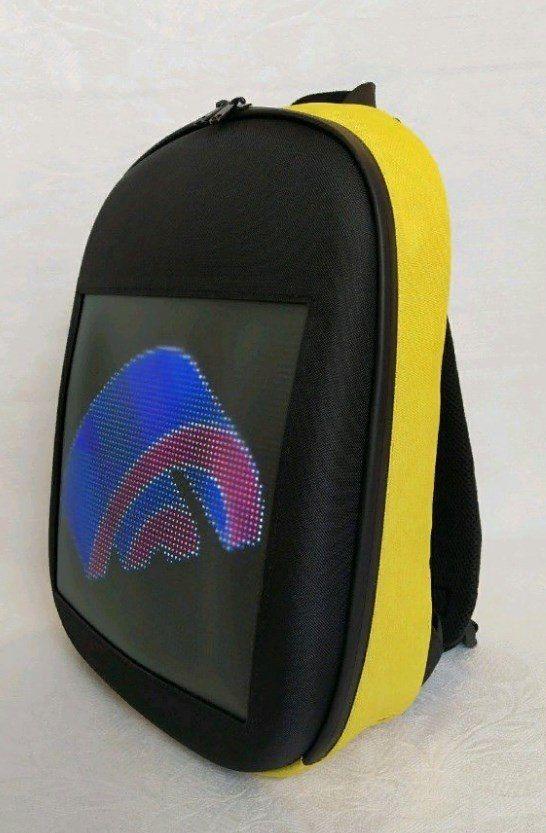 Рюкзак со встроенным LED-дисплеем. Цвет желтый