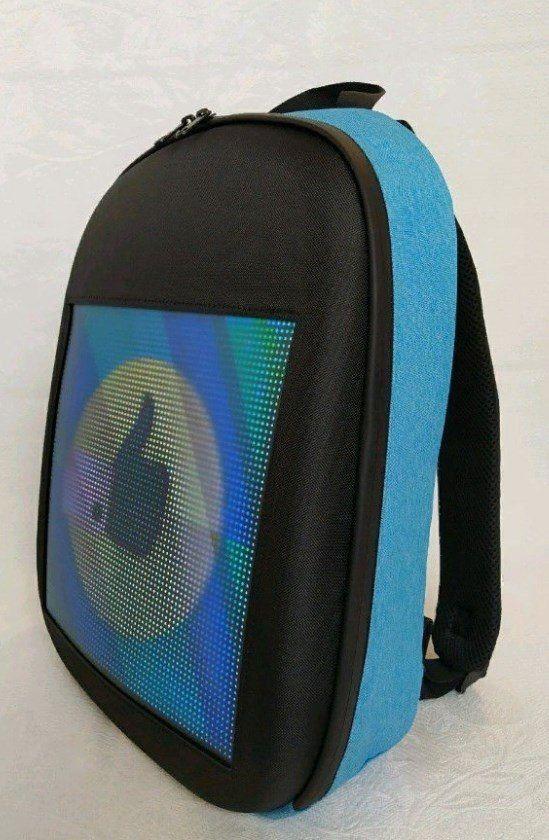 Рюкзак со встроенным LED-дисплеем. Цвет: голубой