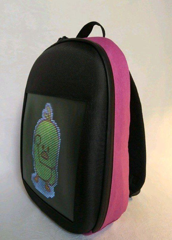 Рюкзак со встроенным LED-дисплеем. Цвет: розовый