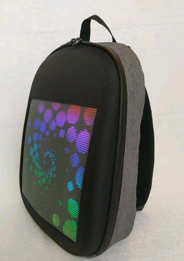Рюкзак со встроенным LED-дисплеем. Цвет: серый
