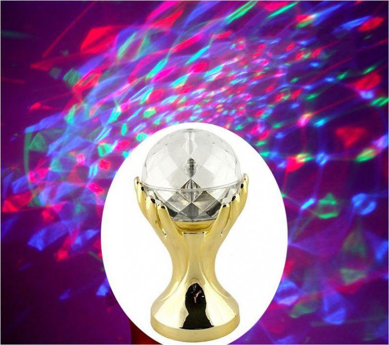 Декоративный Led-Светильник Шар В Руках, 18 См, Цвет Золотой