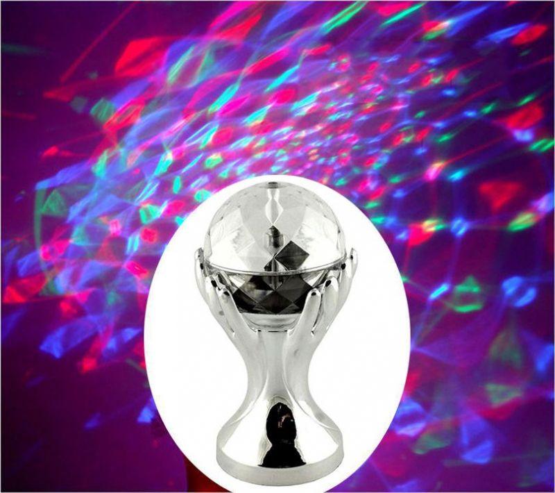 Декоративный LED-светильник Шар В Руках, 18 см, цвет серебряный