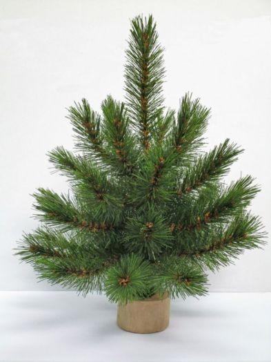Искусственная елка Лесная Красавица 30 см на дерев. подставке зеленая