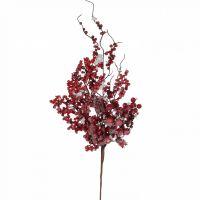 Веточка с ягодами 74 см красная в снегу