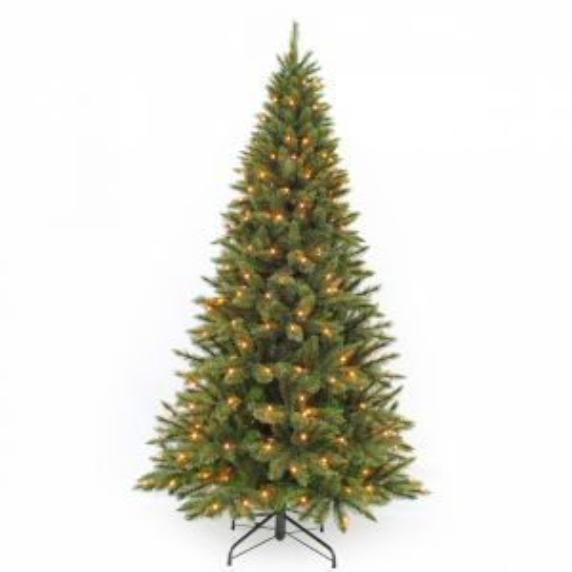 Искусственная елка Лесная Красавица стройная 155 см 120 ламп зеленая