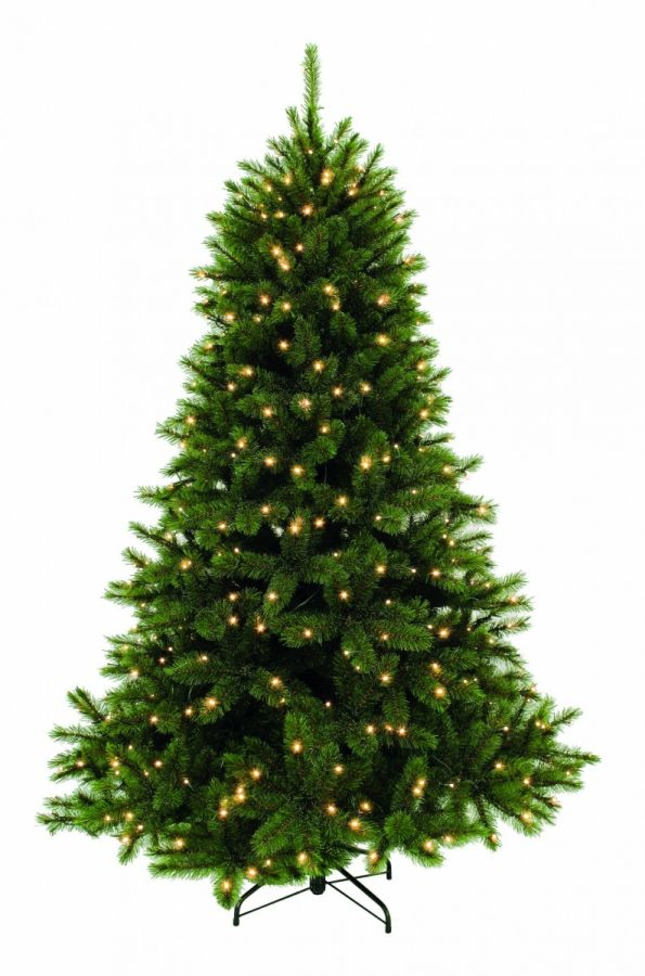 Искусственная елка Лесная Красавица 155 см 152 ламп зеленая