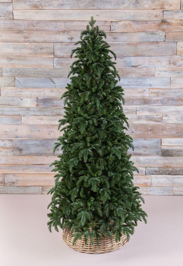 Искусственная елка Нормандия стройная 230 см темно-зеленая